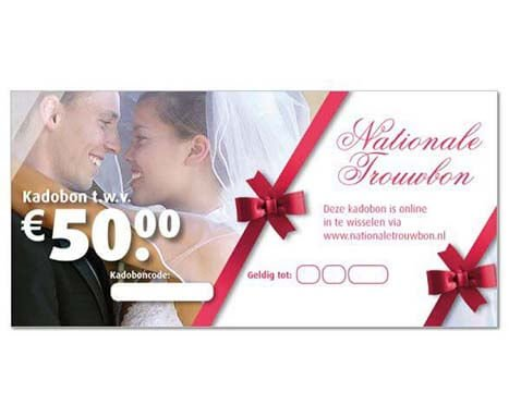 huwelijkskado per mail
