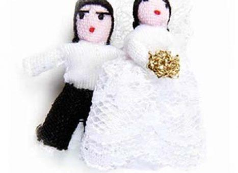 Bruidspaar gelukspoppetjes